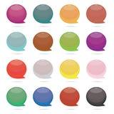 Bulle multi de la parole de couleur Image stock