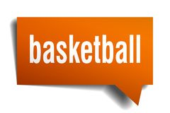 Bulle orange de la parole 3d de basket-ball Photo stock