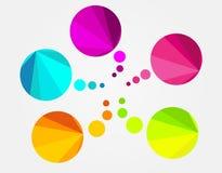 Bulle ronde colorée abstraite de la parole Image libre de droits