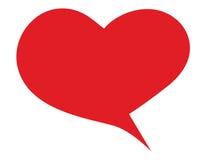 Bulle rouge de forme de coeur pour l'expression Photographie stock libre de droits