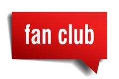 Bulle rouge de la parole 3d de club de fan Image libre de droits