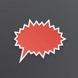 Bulle rouge de la parole pour le cri perçant à la forme épineuse illustration de vecteur