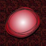 Bulle rouge géniale de la parole avec Memphis Pattern sur le noir Image libre de droits
