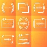 Bulle vide des textes de citation de place de la parole de vecteur abstrait de concept Pour le Web et l'APP mobile sur le fond illustration de vecteur