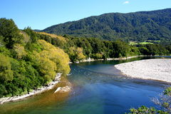 Buller river. View from lookout above river stock photography