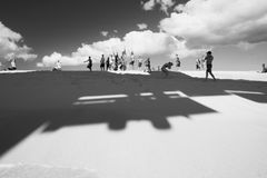 bullersammast strand Arkivfoto