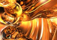 Bulles 01 d'orange Images stock