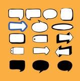 Bulles 2 de Légende-Discours Images libres de droits