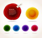 Bulles abstraites de couleur réglées illustration libre de droits