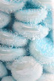 Bulles bleues Images stock
