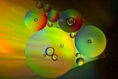 Bulles colorées d'huile Image libre de droits
