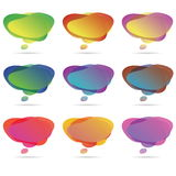 Bulles colorées de la parole illustration stock