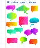 Bulles colorées de la parole Photo libre de droits