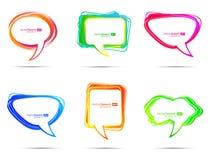 Bulles colorées de la parole Photos stock