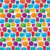 Bulles colorées de la parole et de pensée Image stock