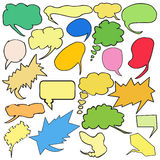 Bulles colorées de pensée de bandes dessinées Image libre de droits