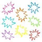 Bulles colorées en pastel de la parole d'huile Photos libres de droits