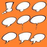 Bulles comiques colorées d'une parole réglées Image stock