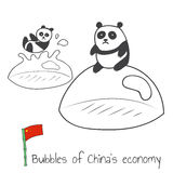 Bulles d'économie des Chine Photographie stock