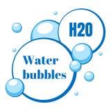 Bulles d'air bleu de l'eau Illustration de vecteur images libres de droits