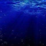 Bulles d'air l'océan Images stock