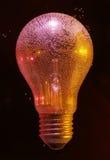 Bulles d'air sur l'ampoule Photo libre de droits