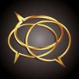 Bulles d'or de la parole dans le groupe Image stock