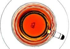 Bulles dans une tasse de thé Images stock
