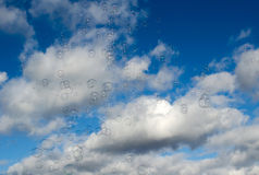 bulles de ciel Photos stock