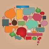 Bulles de dialogue de couleur réglées Photos stock