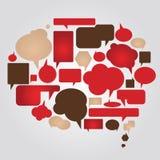 Bulles de dialogue réglées Image stock