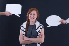 Bulles de femme et de parole Image libre de droits