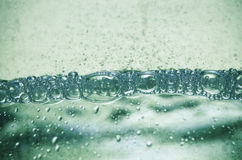 Bulles de l'eau photo stock