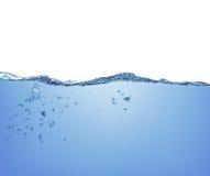 Bulles de l'eau et d'air Photographie stock