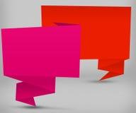 Bulles de la parole d'Origami Photographie stock libre de droits