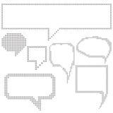 Bulles de la parole de pixel Photo stock