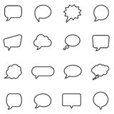 Bulles de la parole et ballons de dialogue illustration stock