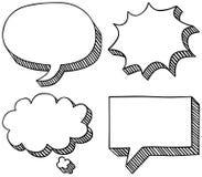Bulles de la parole et de pensée illustration libre de droits
