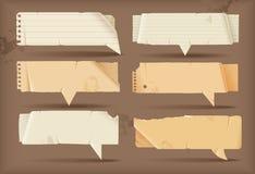 Bulles de papier de la parole Photo libre de droits