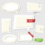 Bulles de papier des textes. Note de vecteur Photographie stock