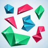 Bulles de polygone Image libre de droits