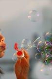 Bulles de savon d'été Photographie stock libre de droits