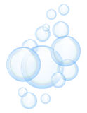 Bulles de savon de vecteur Images stock