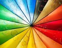 Bulles de savon et fond multicolore Photo libre de droits