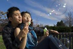 Bulles de soufflement Photographie stock libre de droits