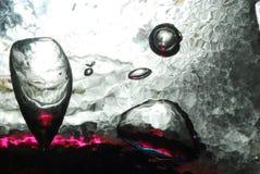 Bulles en verre de flottement Image stock