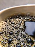 Bulles fraîches de café images stock