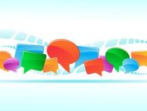 Bulles multicolores de fond social de réseau Images libres de droits