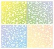 Bulles ovales d'ornement sur un fond de couleur Photos stock