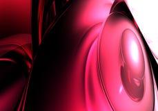 Bulles rouges dans la lumière rouge Image libre de droits